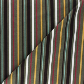 Cotton Jersey fabric - Olive Green Provencia x 10cm