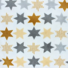 Flanell fleece fabric - white pastel planet x 10cm