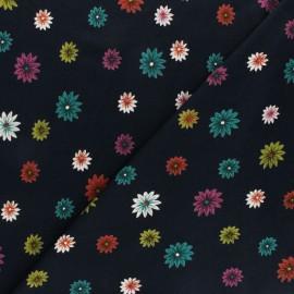 Tissu Jersey Viscose Lyna - Bleu Marine x 10 cm