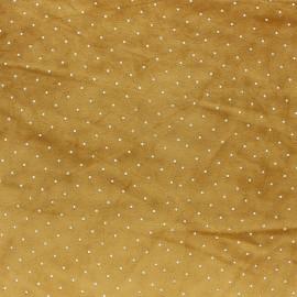 Rhinestone velvet jersey fabric - dark green x 10cm