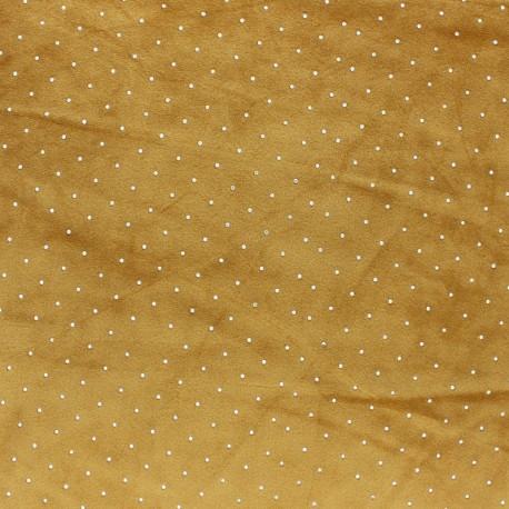 Tissu jersey velours Strass - noir x10cm