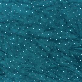 Rhinestone velvet jersey fabric - ochre x 10cm