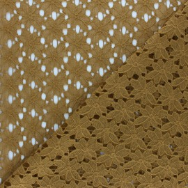 Lace Fabric - ochre Odile x 10cm