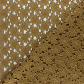 Tissu Dentelle Odile - ocre x 10cm