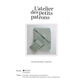 Hooded Bath Towel Sewing Pattern - L'Atelier des Petits Patrons Sacha