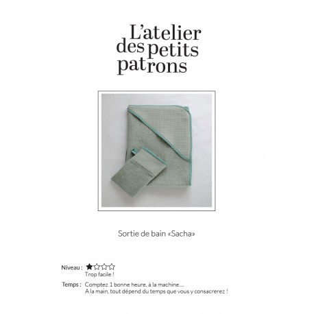 Hooded Bath Towel Sewing Pattern - L'Atelier des Petits Patrons Sacha