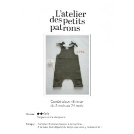 Overall Sewing Pattern - L'Atelier des Petits Patrons Emma