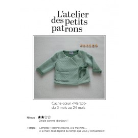 Wrap Sweater Sewing Pattern - L'Atelier des Petits Patrons Margot