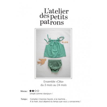 Top & Panties Sewing Pattern - L'Atelier des Petits Patrons Cléa