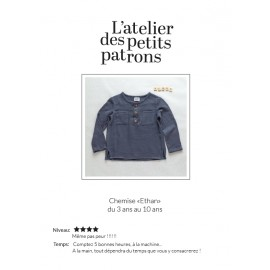 Shirt Sewing Pattern - L'Atelier des Petits Patrons Ethan
