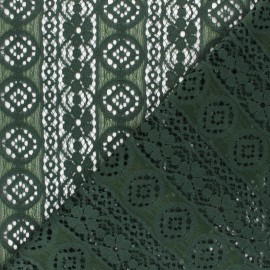 Lace Fabric - green Brigitte x 10cm