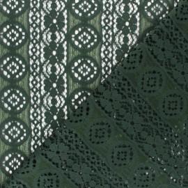 Tissu Dentelle Brigitte - vert x 10cm
