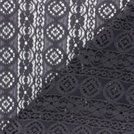 Lace Fabric - grey Brigitte x 10cm