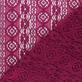 Lace Fabric - dark purple Brigitte x 10cm