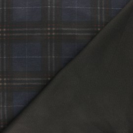 Tissu Jersey Milano Chester - bleu x 10cm