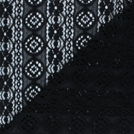 Lace Fabric - black Brigitte x 10cm