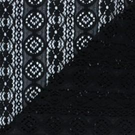 Tissu Dentelle Brigitte - noir x 10cm