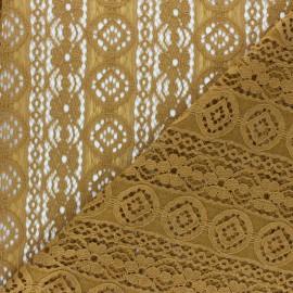 Lace Fabric - ochre Brigitte x 10cm
