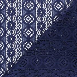 Lace Fabric - indigo Brigitte x 10cm