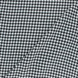 Viscose Fabric - Black Houndstooth x 10cm