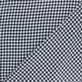 Viscose Fabric - Blue Houndstooth x 10cm