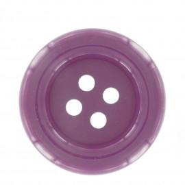Clown Button - dark purple