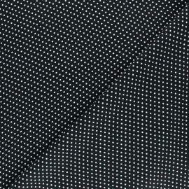 Viscose Fabric - Black A Thousand Dots x 10cm