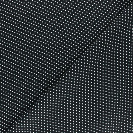 Viscose Fabric - Black A Thousand Dots x 10cm