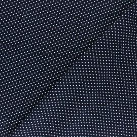 Tissu Viscose A Thousand Dots - Bleu x 10cm