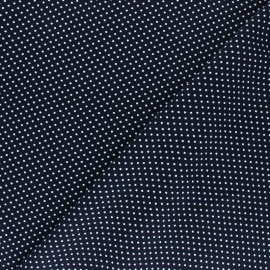 Viscose Fabric - Blue A Thousand Dots x 10cm