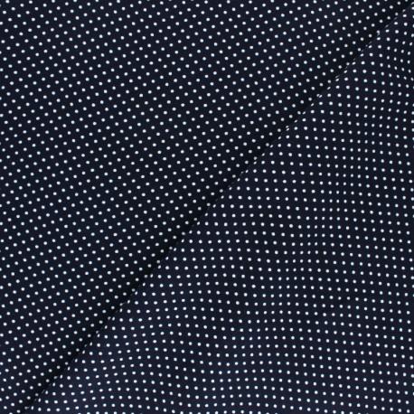 Viscose Fabric - Blue A Thousand Dots x 10cm