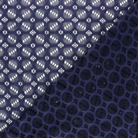 Elastane Lace Fabric - indigo Scarlett x 10cm