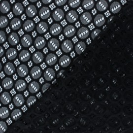Elastane Lace Fabric - black Scarlett x 10cm