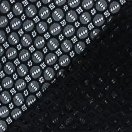 Tissu Dentelle élasthanne Scarlett - noir x 10cm