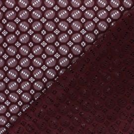 Tissu Dentelle élasthanne Scarlett - lie de vin x 10cm
