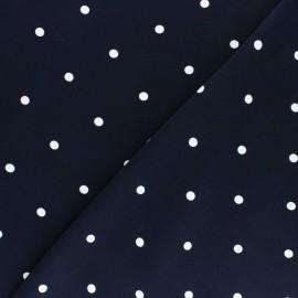 Tissu Viscose A Hundred Dots - Bleu x 10cm
