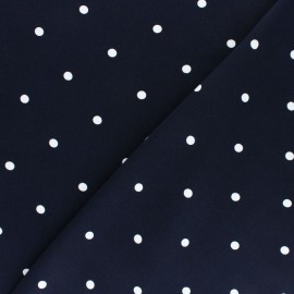 Viscose Fabric - Blue A Hundred Dots x 10cm