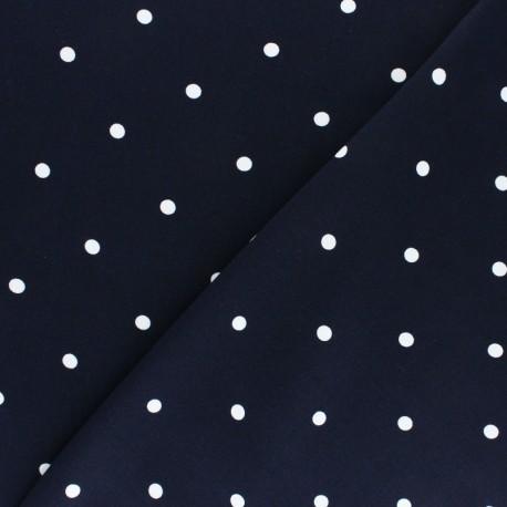 Viscose Fabric - Blue A Hundred Dots x 10cm