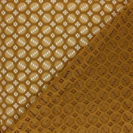 Tissu Dentelle élasthanne Scarlett - ocre x 10cm