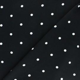 Tissu Viscose A Hundred Dots - Noir x 10cm
