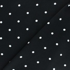 Viscose Fabric - Black A Hundred Dots x 10cm