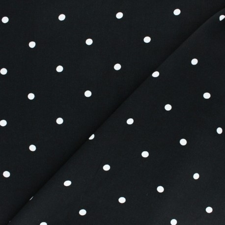 Viscose Fabric - Black A Hundred Dots x 10cm