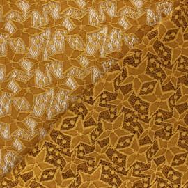 Elastane Lace Fabric - ochre Estelle x 10cm