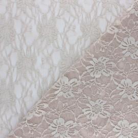 Lace Fabric - pink beige Méria x 10cm