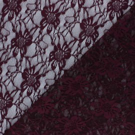 Lace Fabric - purple red Méria x 10cm
