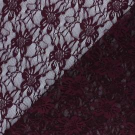 Tissu Dentelle Méria - lie de vin x 10cm