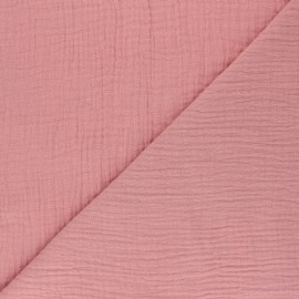 Plain Triple gauze fabric - soft pink x 10cm