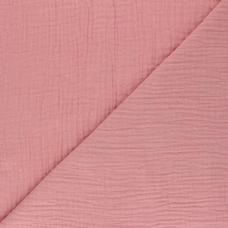 Plain Triple gauze fabric - khaki green x 10cm