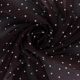 Muslin Fabric - dark taupe Gallia x 50cm