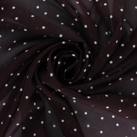 Tissu mousseline Gallia - lie de vin x 50cm